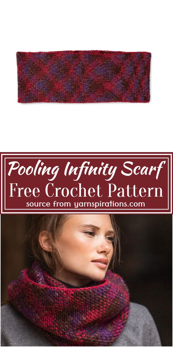 Free Crochet Pooling Infinity Scarf Pattern