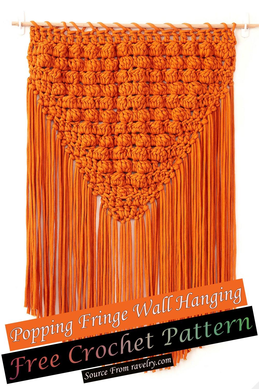 Free Crochet Popping Fringe Wall Hanging Pattern