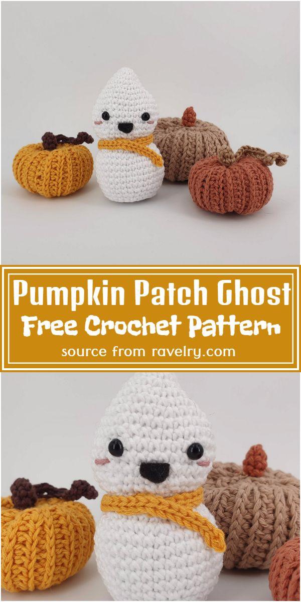 Free Crochet Pumpkin Patch Ghost Pattern