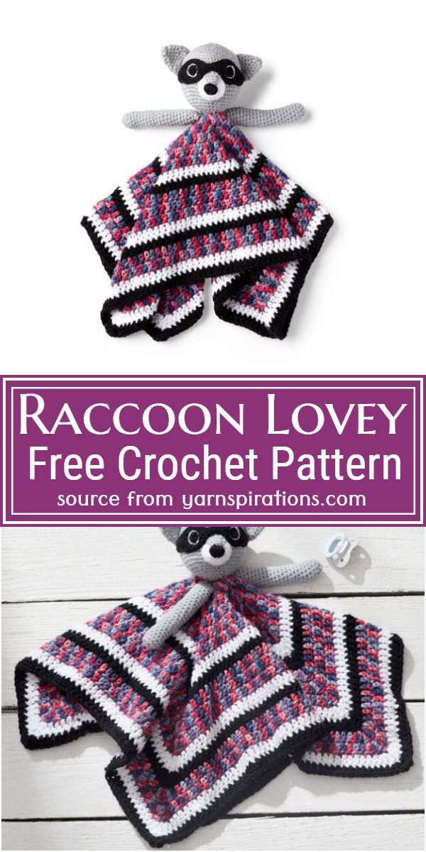 Free Crochet Raccoon Lovey Pattern