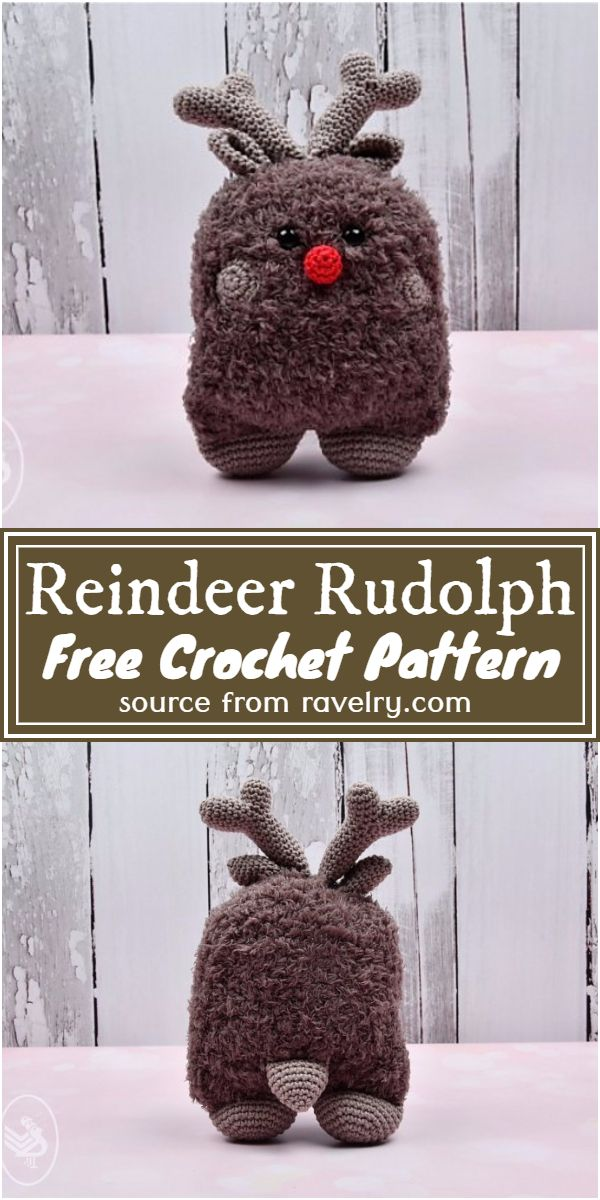 Free Crochet Reindeer Rudolph Pattern
