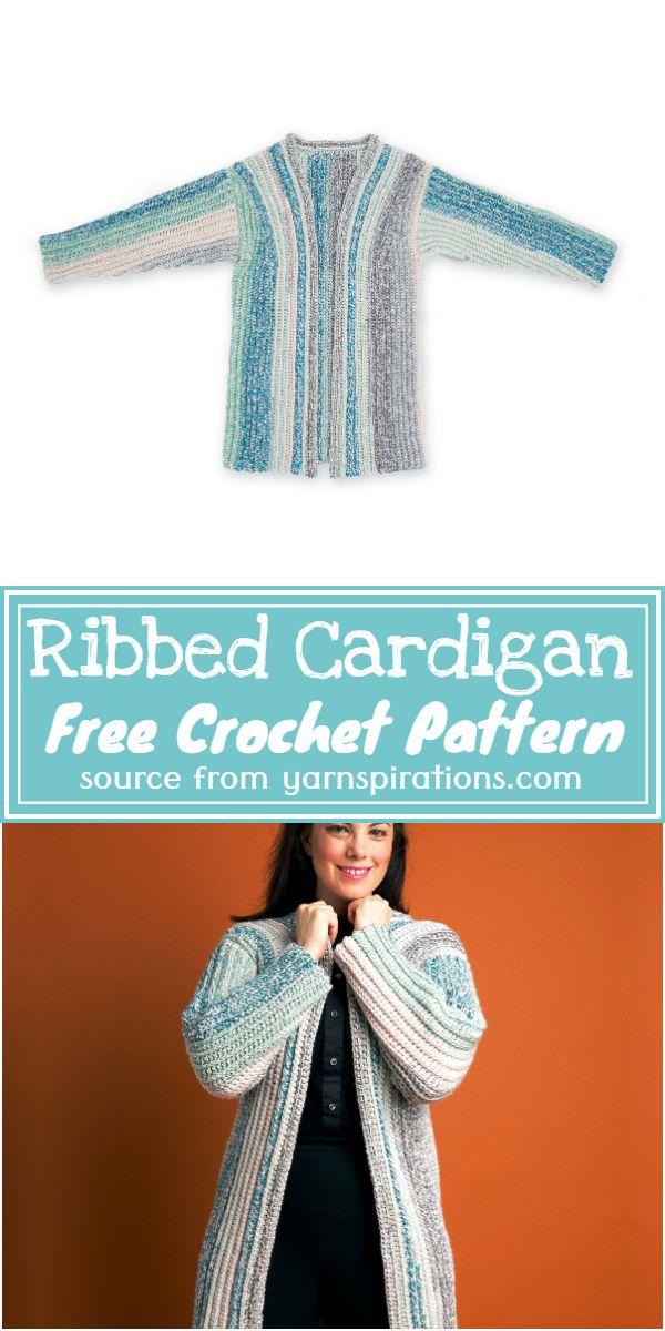 Free Crochet Ribbed Cardigan Pattern