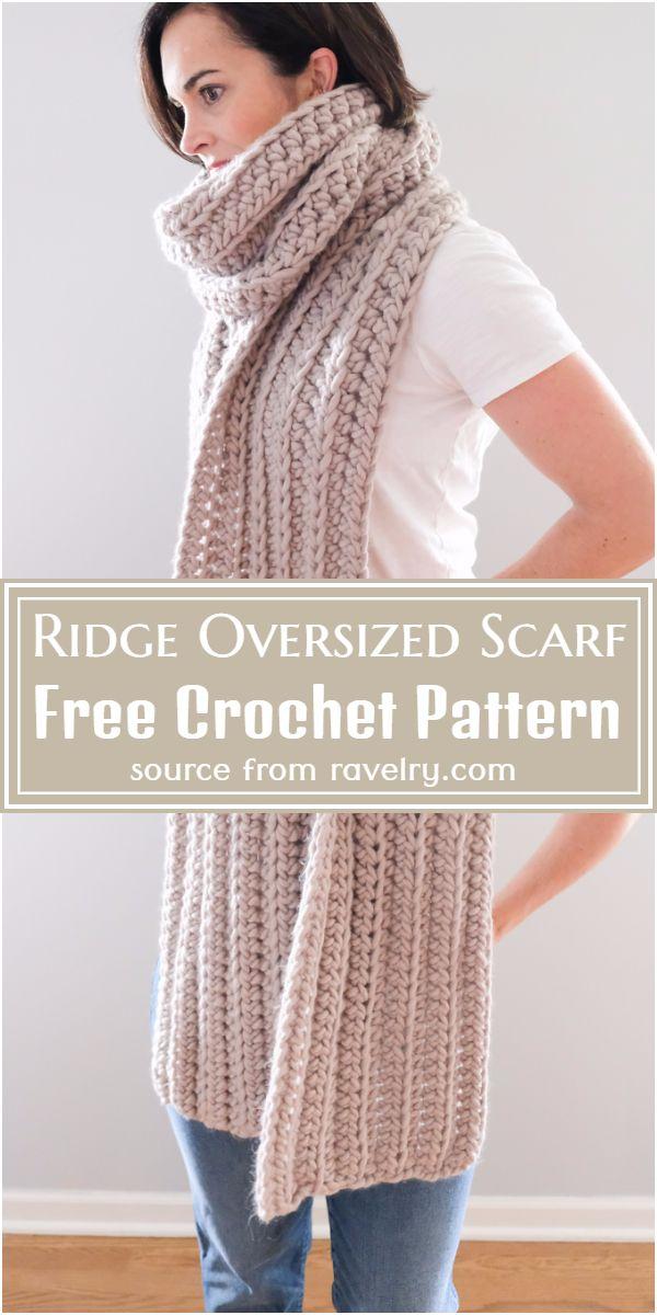 Free Crochet Ridge Oversized Scarf Pattern