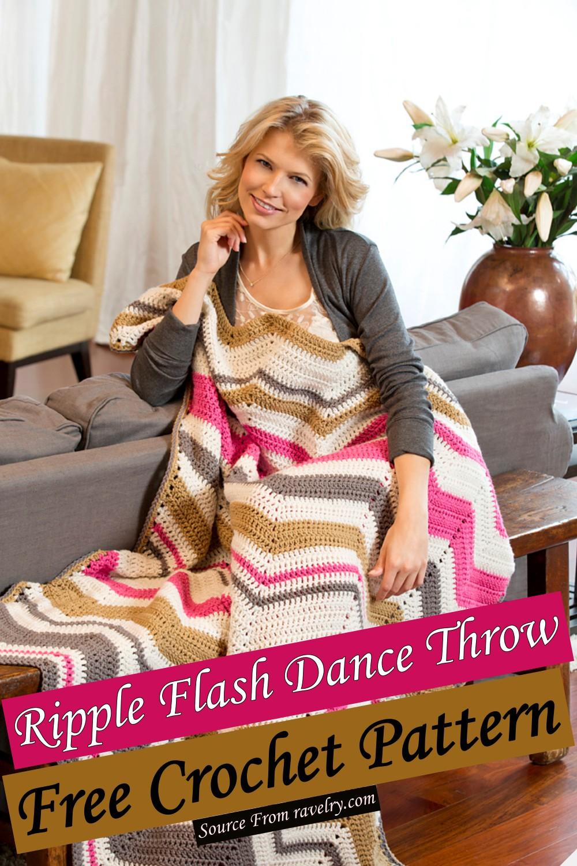 Free Crochet Ripple Flash Dance Throw Pattern
