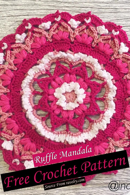Free Crochet Ruffle Mandala Pattern