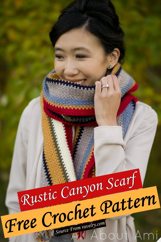 Free Crochet Rustic Canyon Scarf Pattern