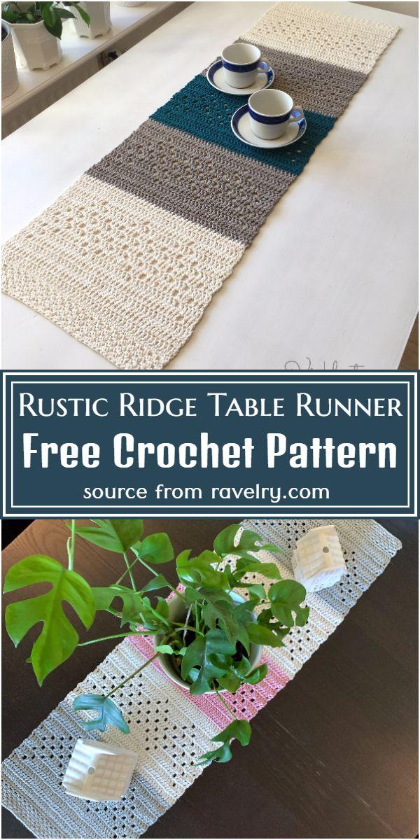 Free Crochet Rustic Ridge Table Runner Pattern