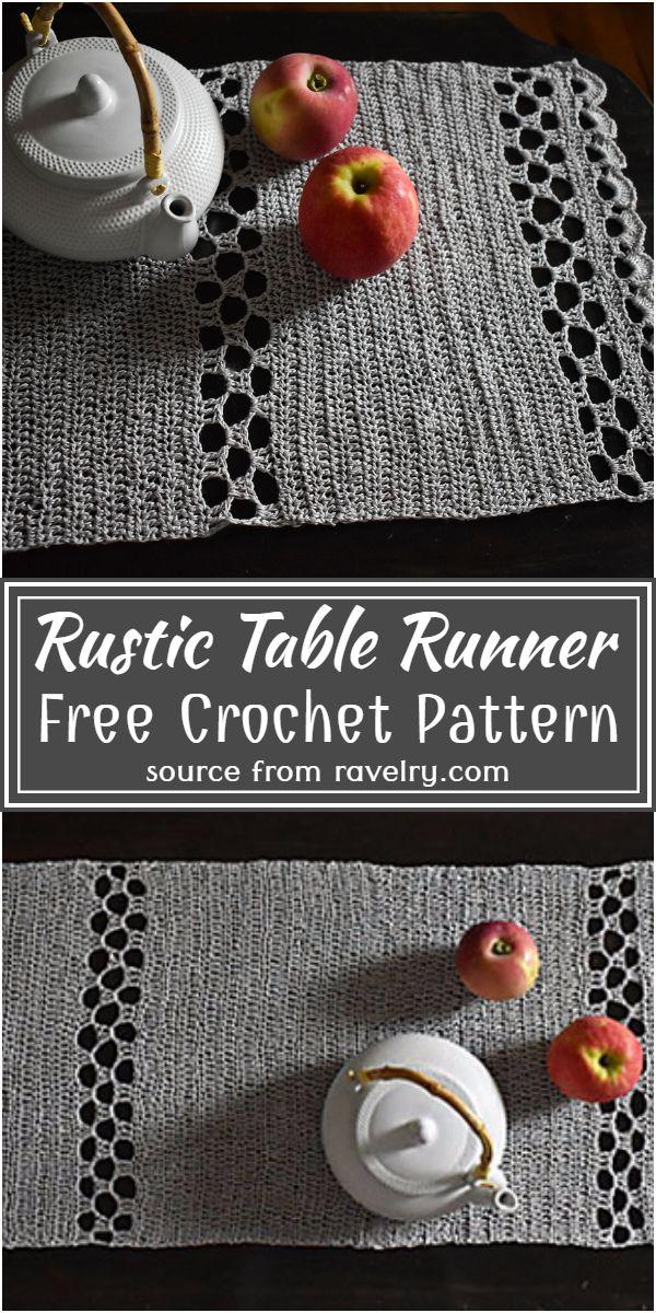 Free Crochet Rustic Table Runner Pattern