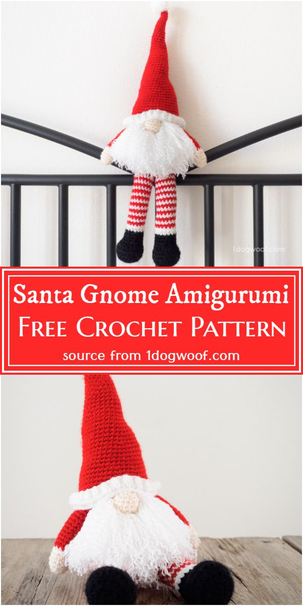 Free Crochet Santa Gnome Amigurumi Pattern