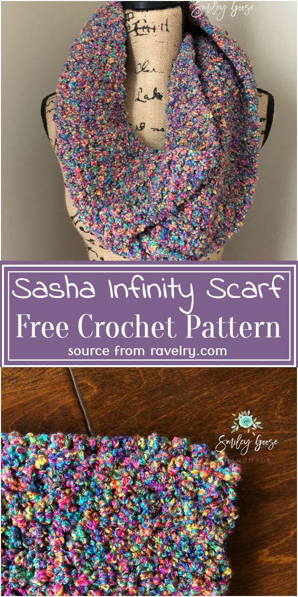 Free Crochet Sasha Infinity Scarf Pattern