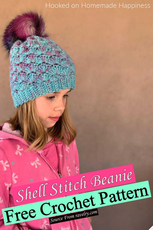 Free Crochet Shell Stitch Beanie Pattern