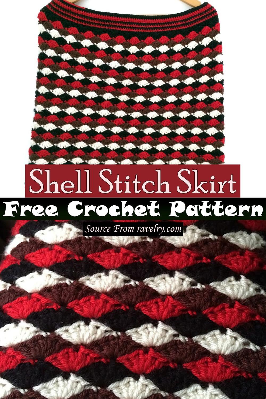 Free Crochet Shell Stitch Skirt Pattern