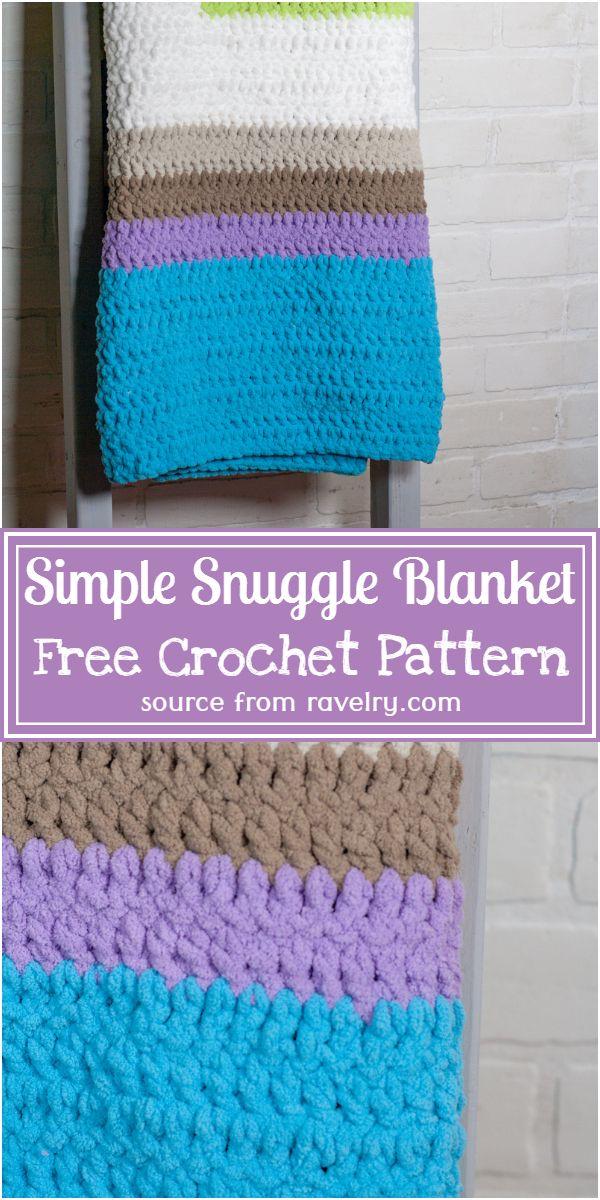 Free Crochet Simple Snuggle Blanket Pattern