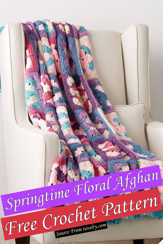 Free Crochet Springtime Floral Afghan Pattern