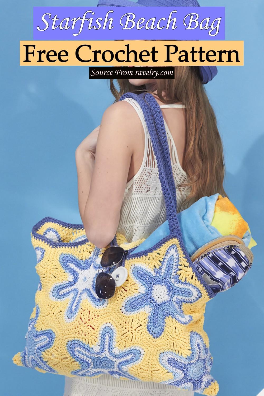 Free Crochet Starfish Beach Bag Pattern