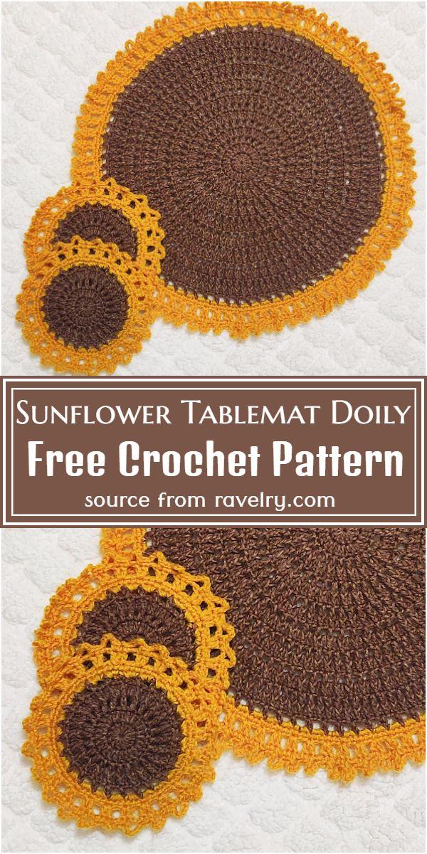 Free Sunflower Tablemat Pattern