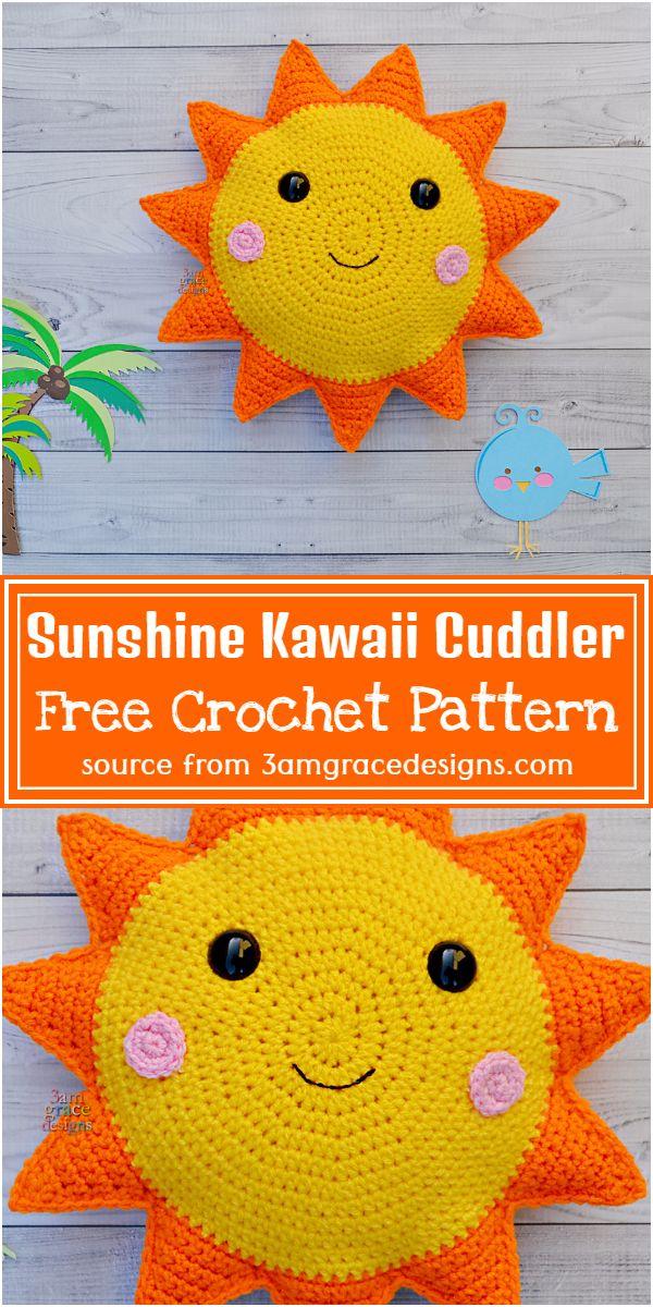 Free Crochet Sunshine Kawaii Cuddler Pattern