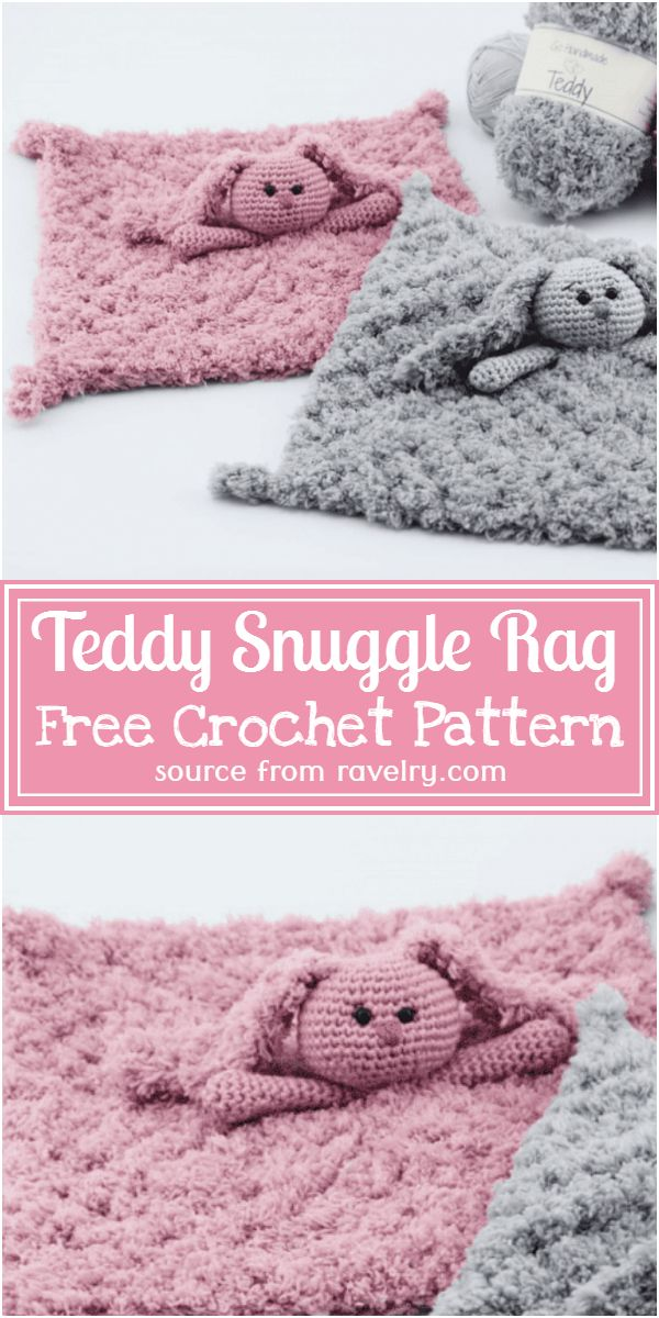 Free Crochet Teddy Snuggle Rag Pattern