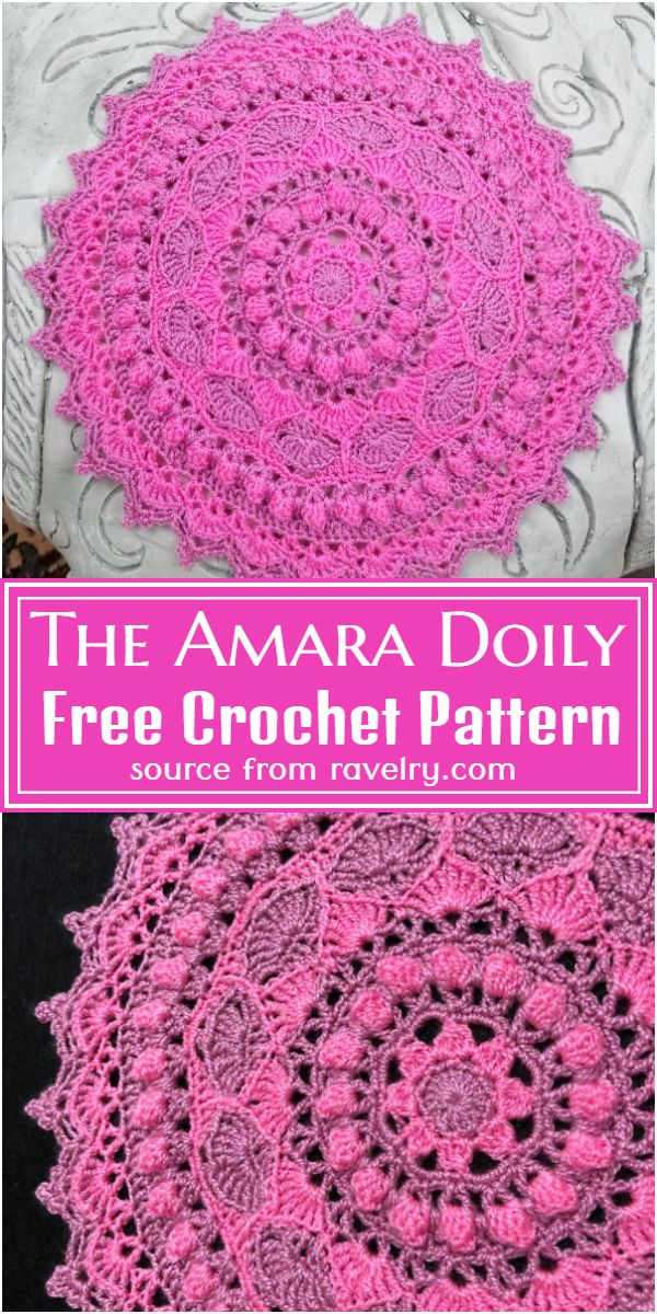 Free Crochet The Amara Doily Pattern
