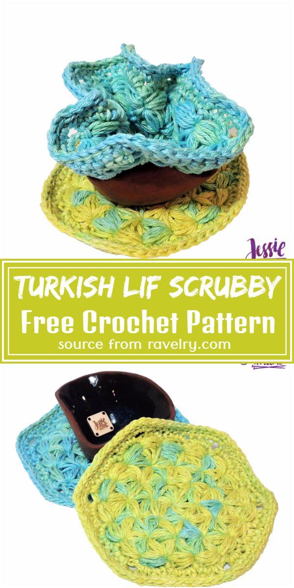 Free Crochet Turkish Lif Scrubby Pattern