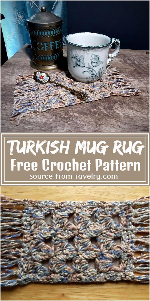 Free Crochet Turkish Mug Rug Pattern