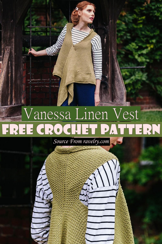 Free Crochet Vanessa Linen Vest Pattern