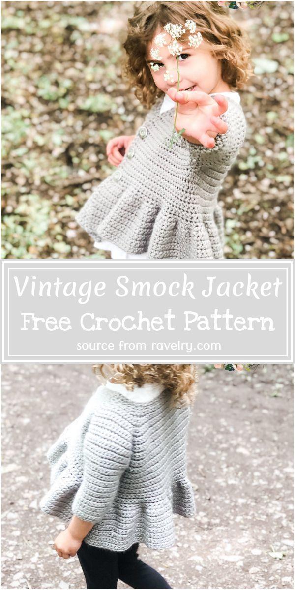 Free Crochet Vintage Smock Jacket Pattern
