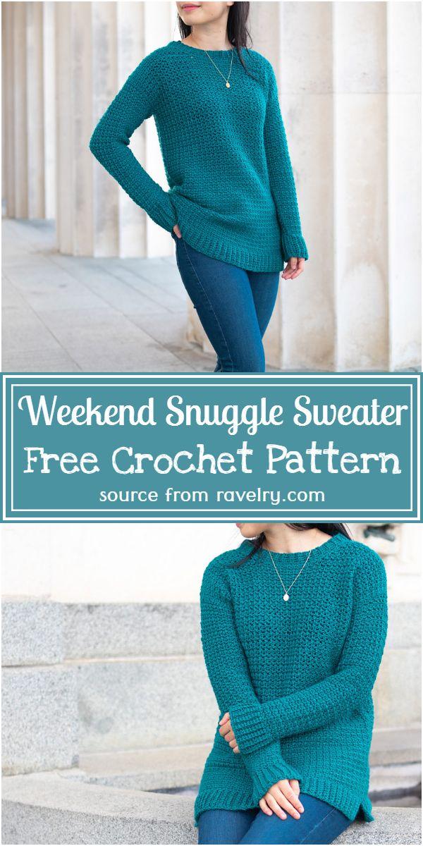 Free Crochet Weekend Snuggle Sweater Pattern
