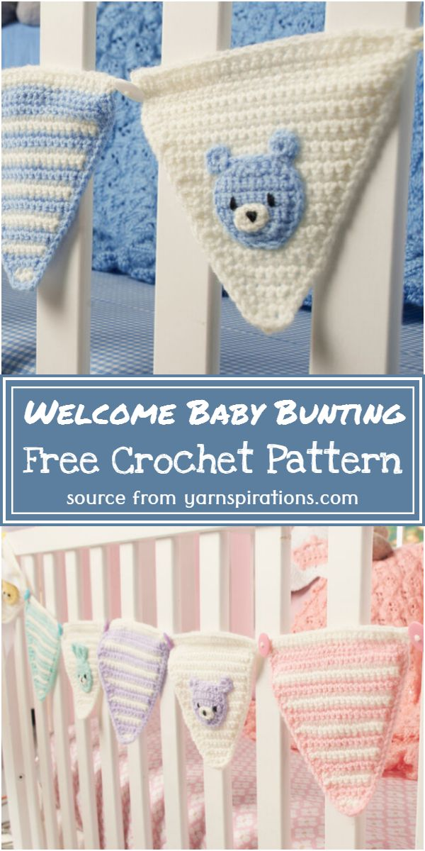 Free Crochet Welcome Baby Bunting Pattern