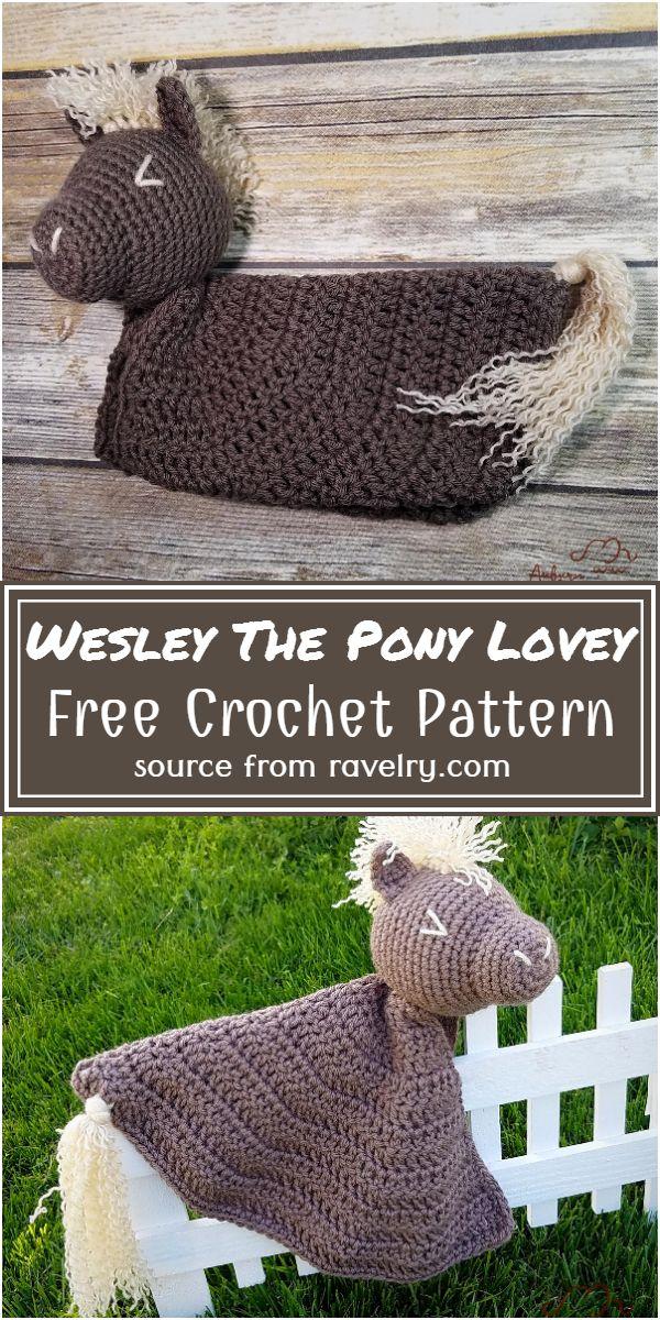 Free Crochet Wesley The Pony Lovey Pattern