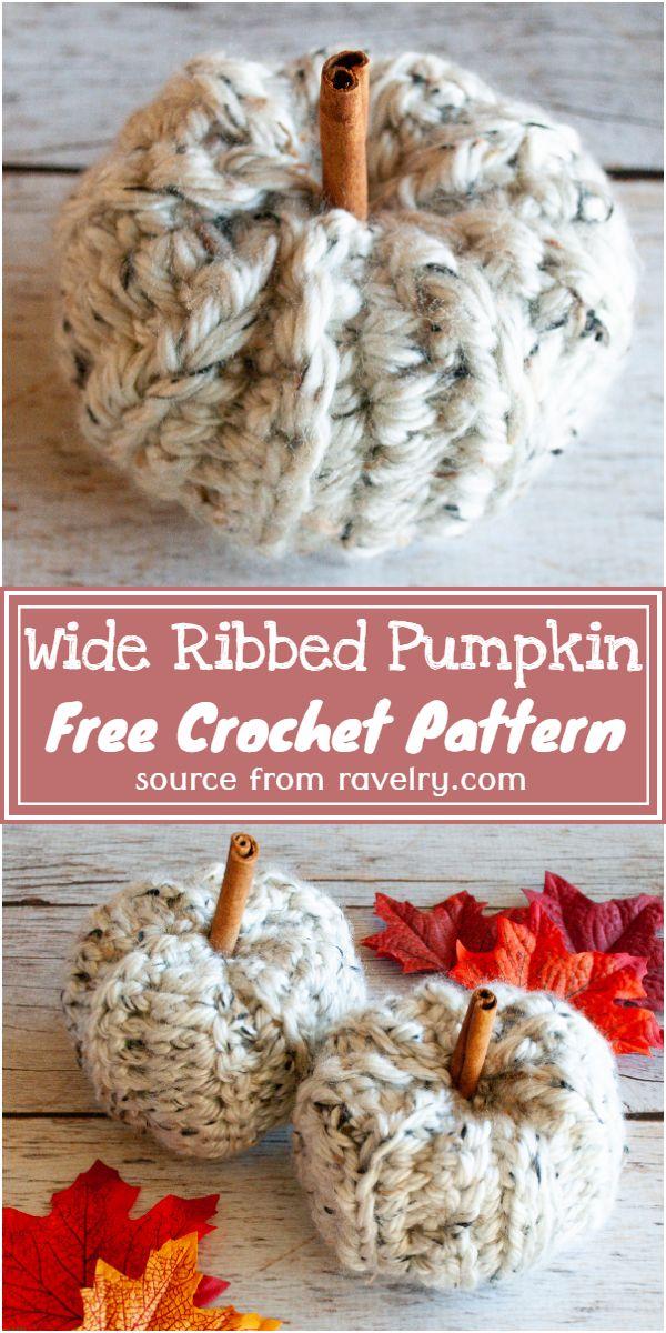 Free Crochet Wide Ribbed Pumpkin Pattern