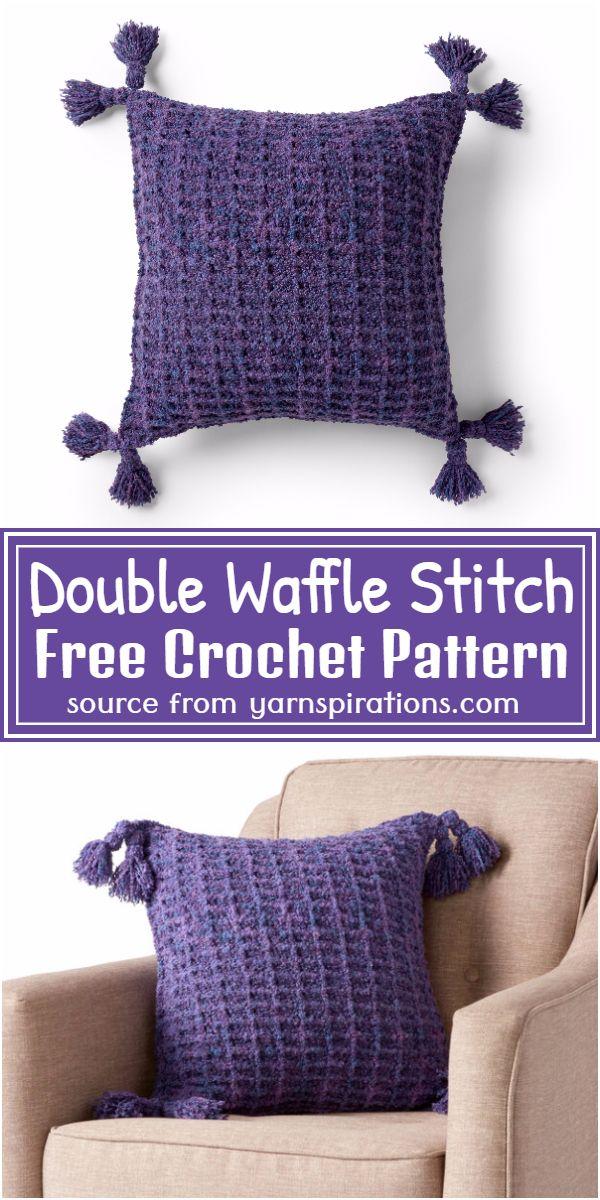 Free Crochet Woven Waffles Pillow Pattern