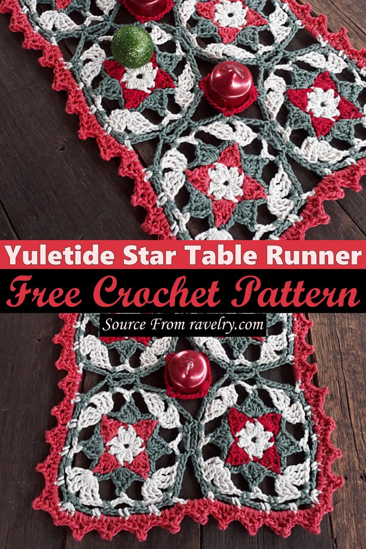 Free Crochet Yuletide Star Table Runner Pattern