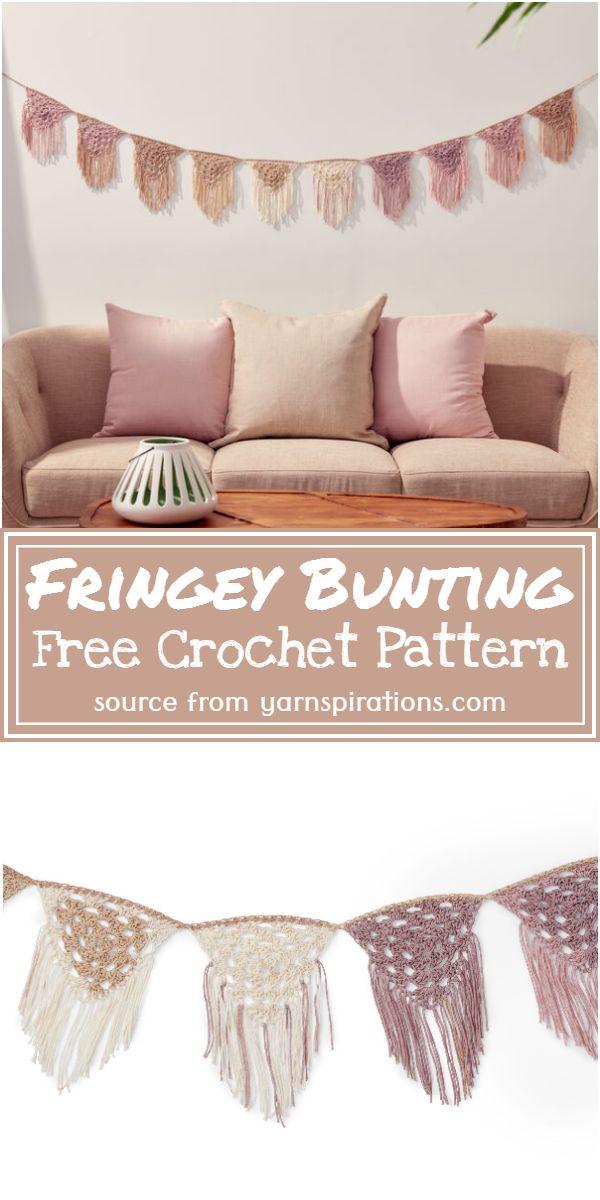 Fringey Bunting Crochet Pattern
