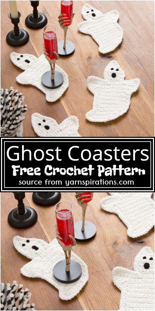 Ghost Coasters Crochet Pattern