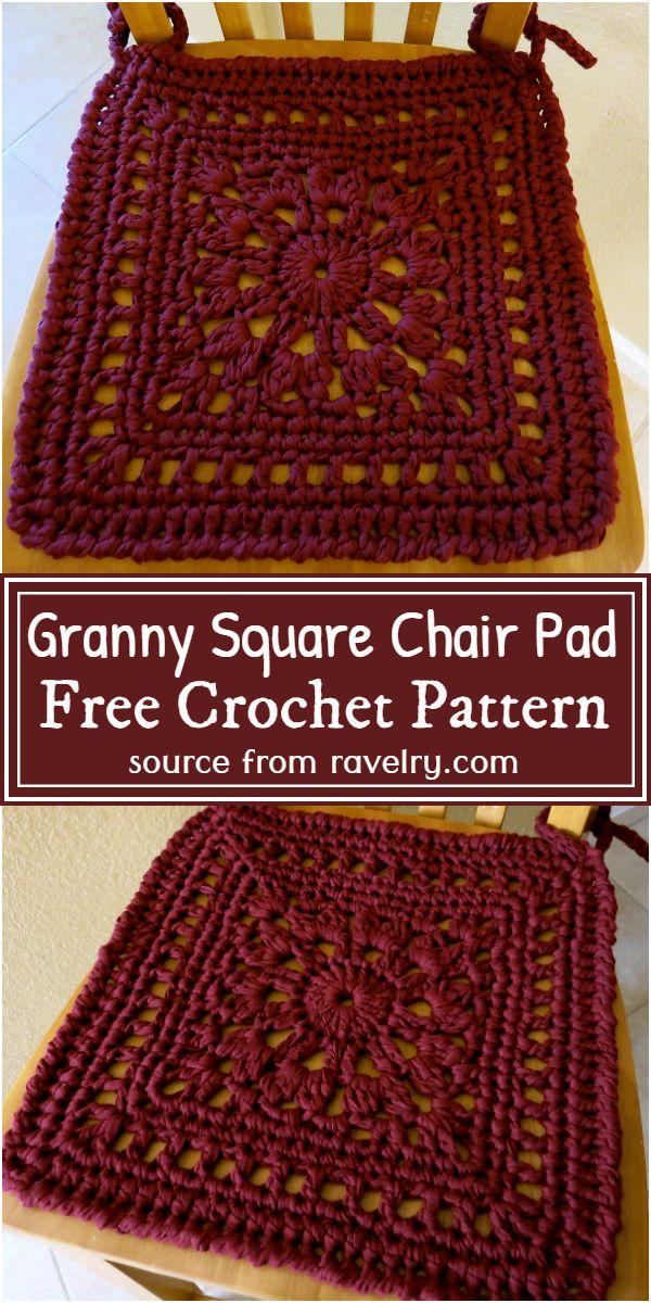 Granny Square Chair Pad Crochet Pattern
