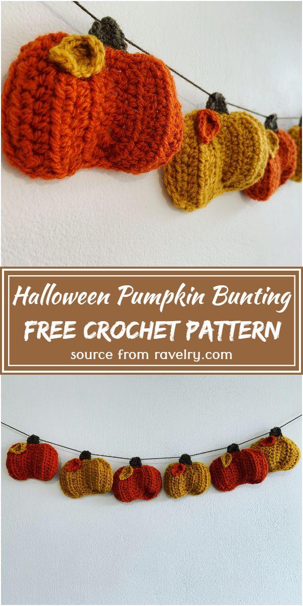 Halloween Pumpkin Bunting Crochet Pattern