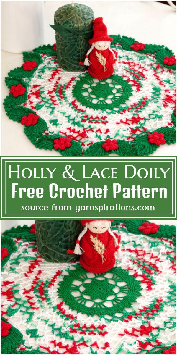 Holly & Lace Pattern