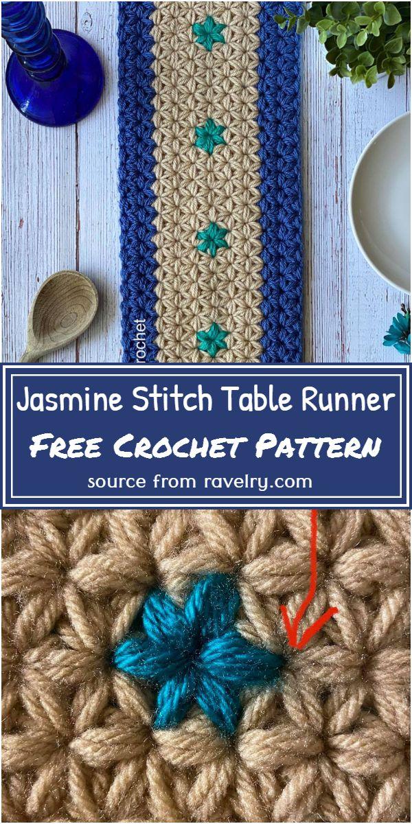 Jasmine Stitch Crochet Table Runner Free Pattern