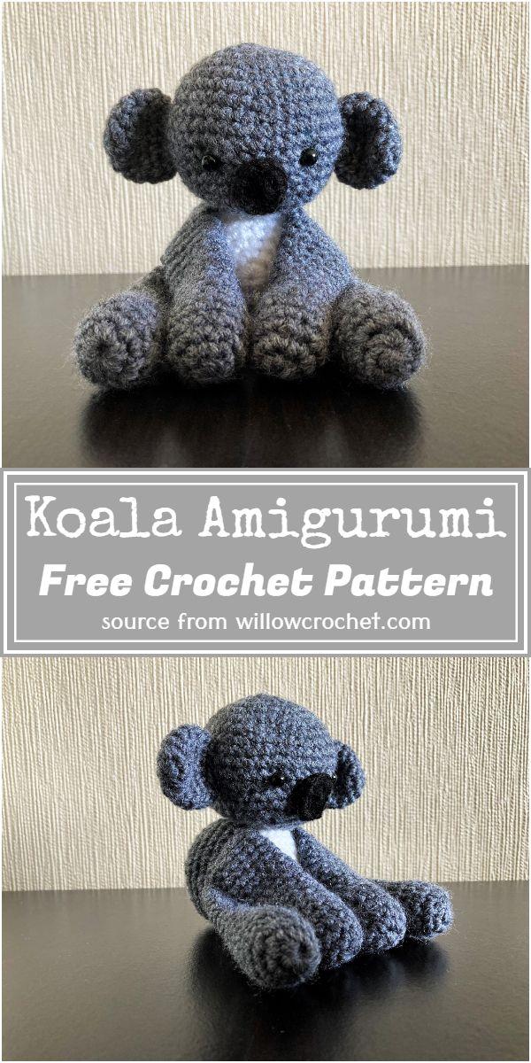 Koala Amigurumi Crochet Pattern
