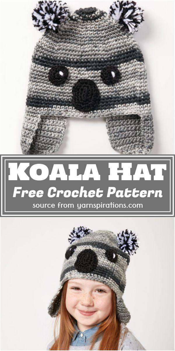 Koala Hat Crochet Pattern