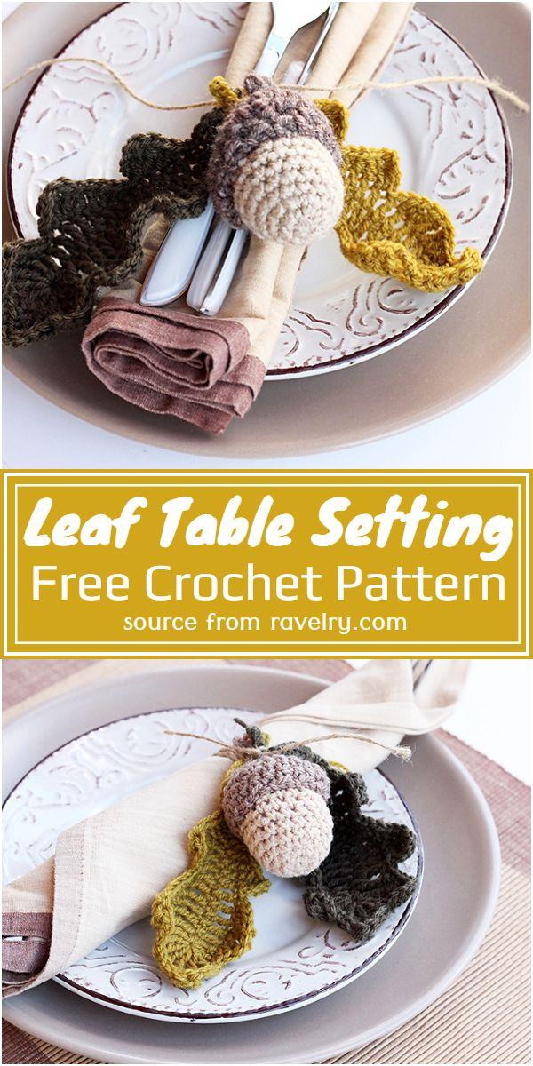 Leaf Table Setting Crochet Pattern