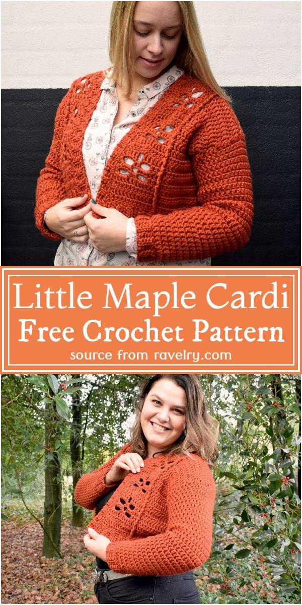 Little Maple Cardi Crochet Pattern