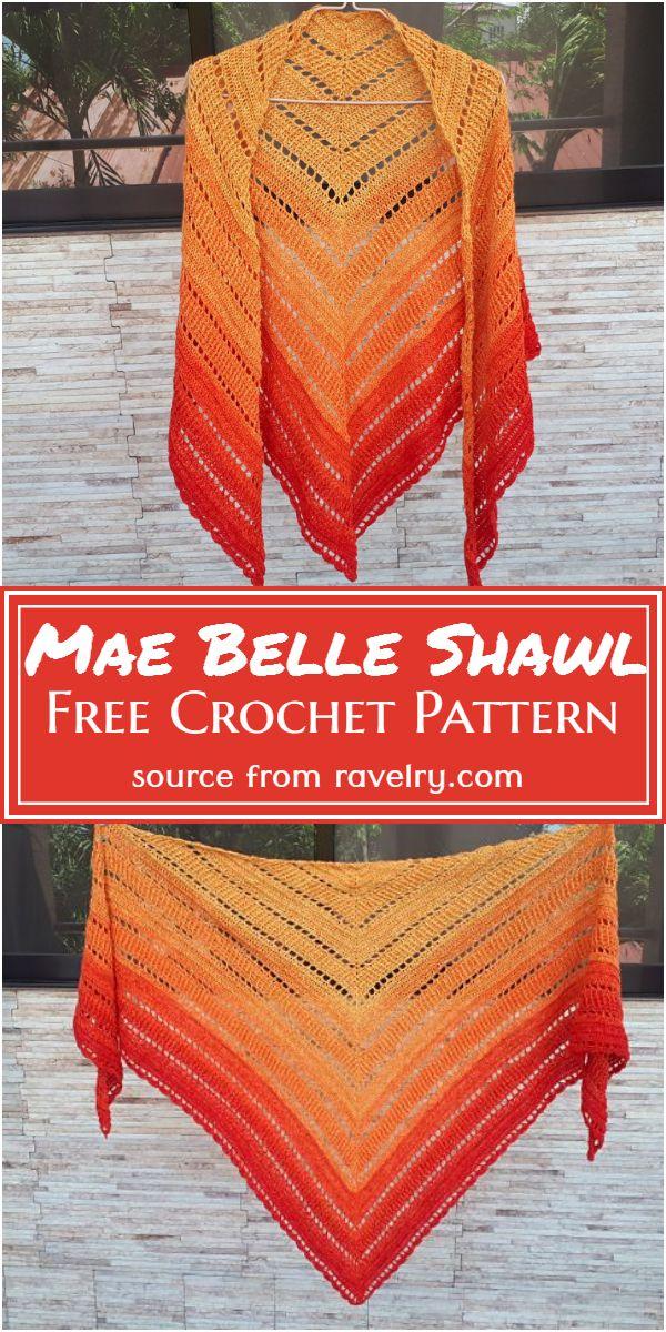 Mae Belle Shawl Crochet Pattern