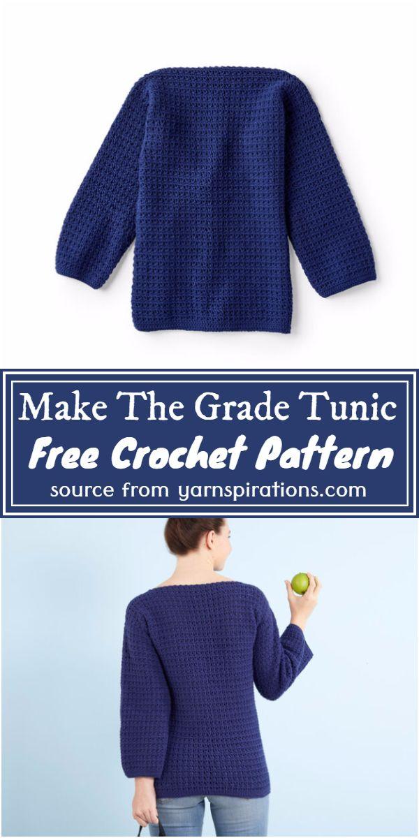 Make The Grade Tunic Crochet Pattern