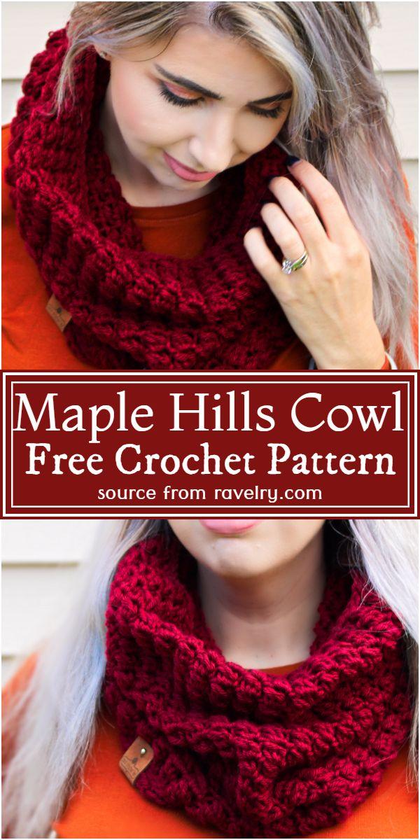 Maple Hills Cowl Crochet Pattern