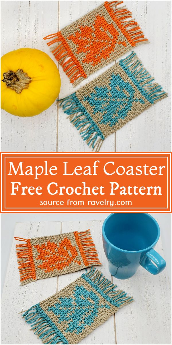 Maple Leaf Coaster Crochet Pattern
