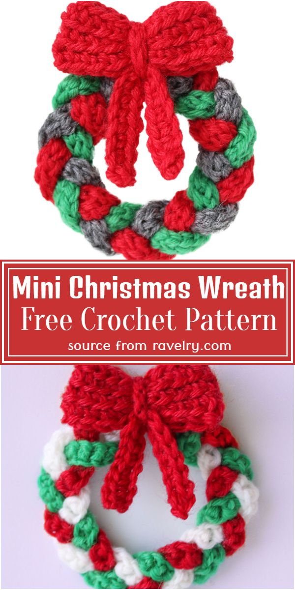 Mini Christmas Wreath Crochet Pattern