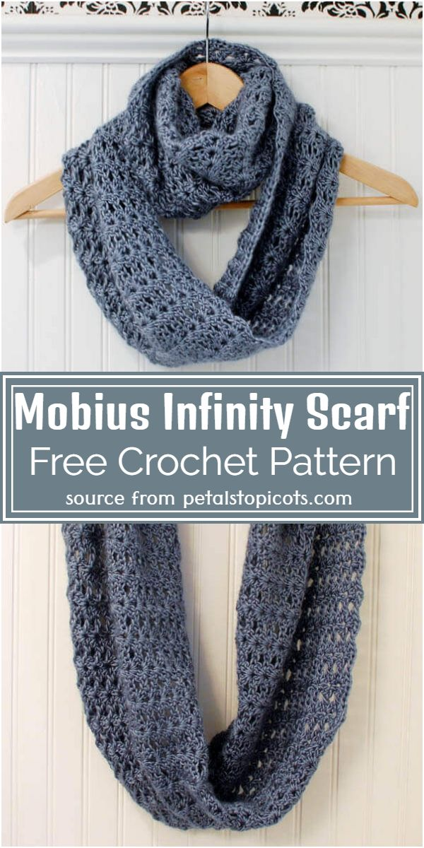 Mobius Crochet Infinity Scarf Free Pattern