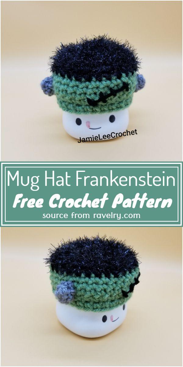Mug Hat Crochet Frankenstein Free Pattern